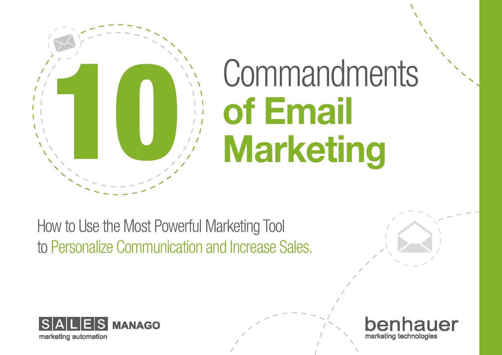 10 Commandments of Email Marketing